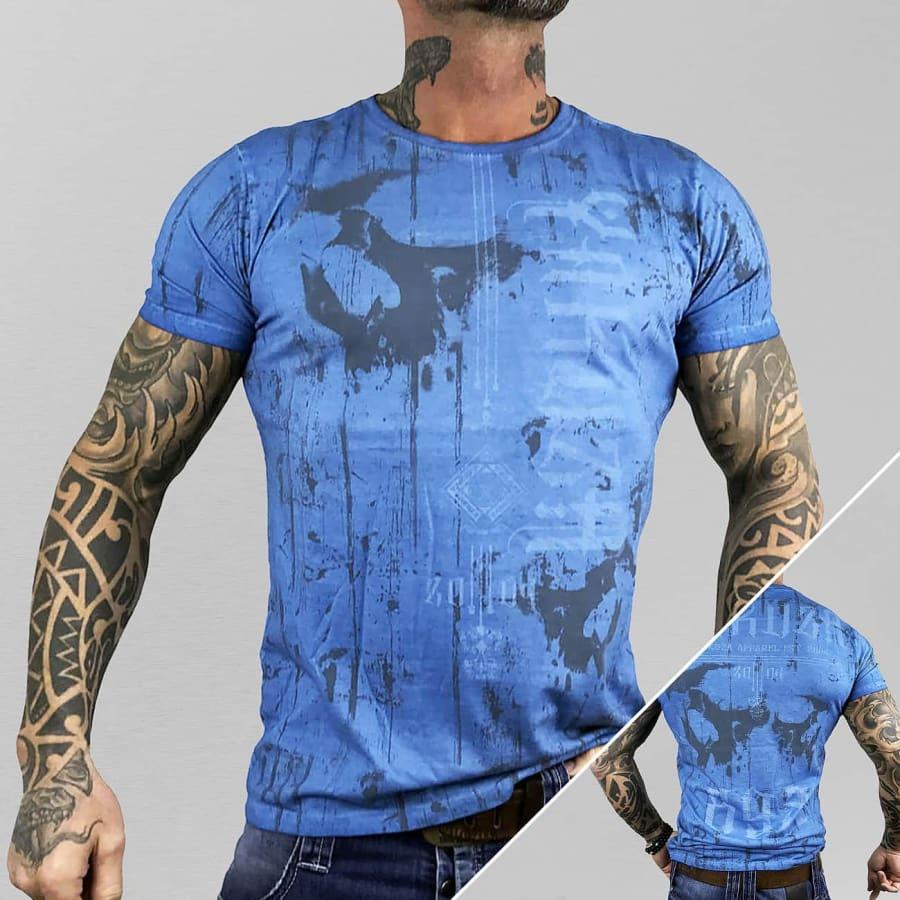 yakuza dark side t shirt herren blau vaola. Black Bedroom Furniture Sets. Home Design Ideas