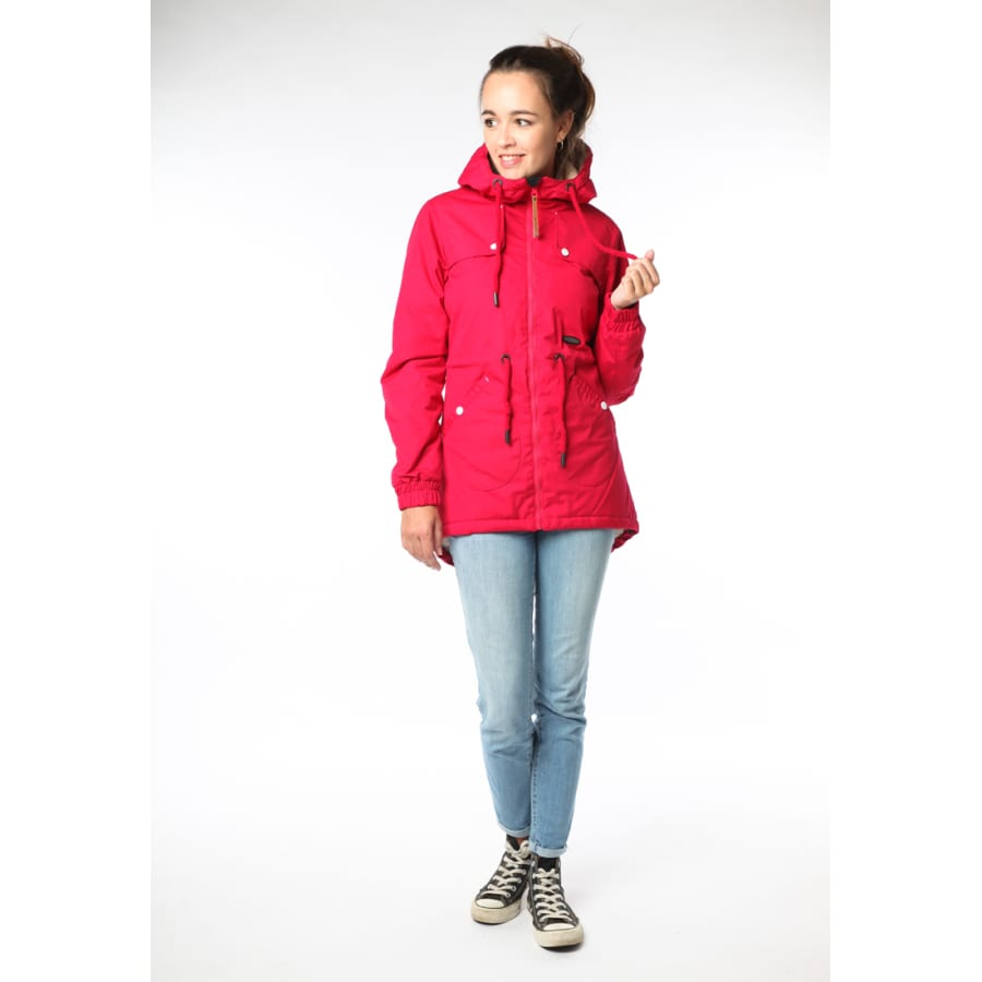 alife kickin daryl jacket bergangsjacke damen rot. Black Bedroom Furniture Sets. Home Design Ideas
