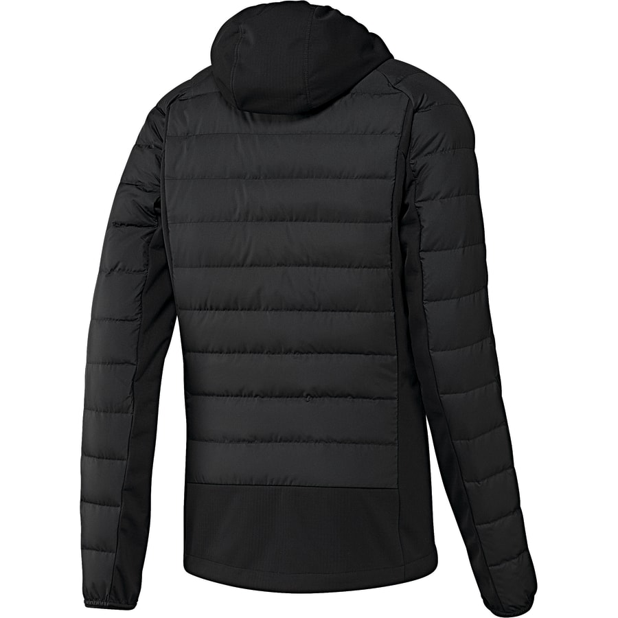 adidas hybrid down jacket daunenjacke herren schwarz. Black Bedroom Furniture Sets. Home Design Ideas