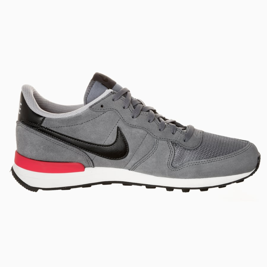 low priced 52ba0 733a0 ... Nike Internationalist Leather Sneaker Herren grau-schwarz ...