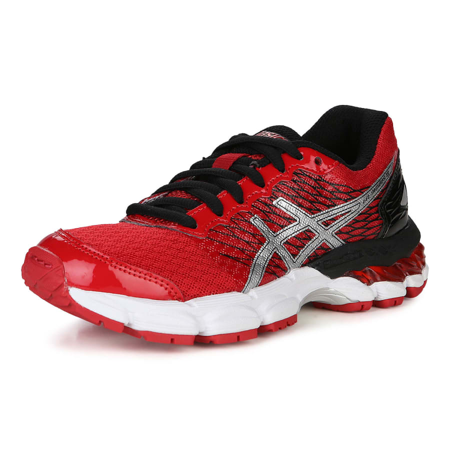 asics gel nimbus 18 gs laufschuhe kinder rot schwarz. Black Bedroom Furniture Sets. Home Design Ideas