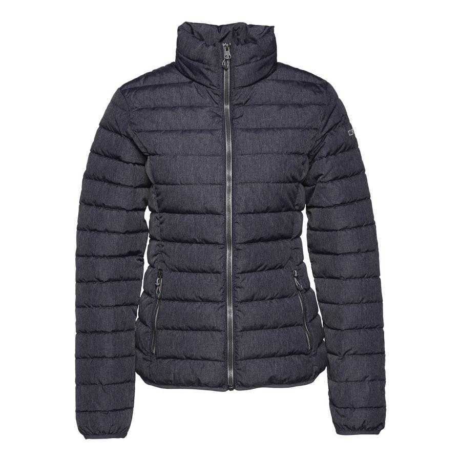 cmp melange jacket winterjacke damen blau melange grau. Black Bedroom Furniture Sets. Home Design Ideas