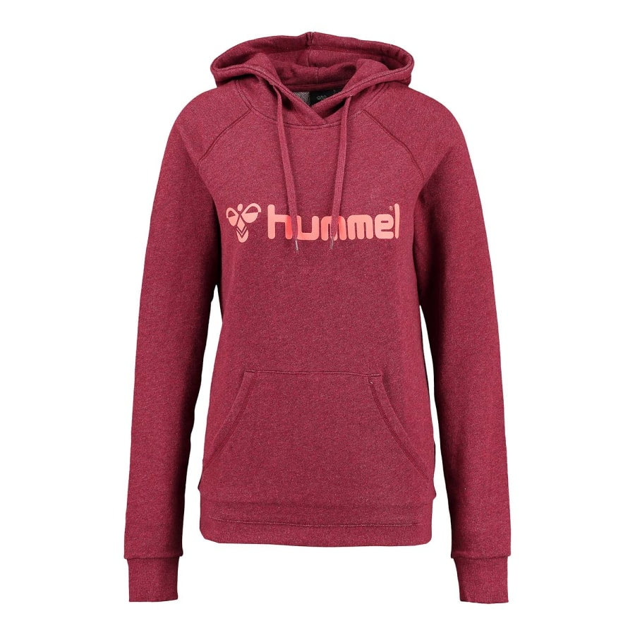 hummel classic bee hoodie women red coral vaola. Black Bedroom Furniture Sets. Home Design Ideas