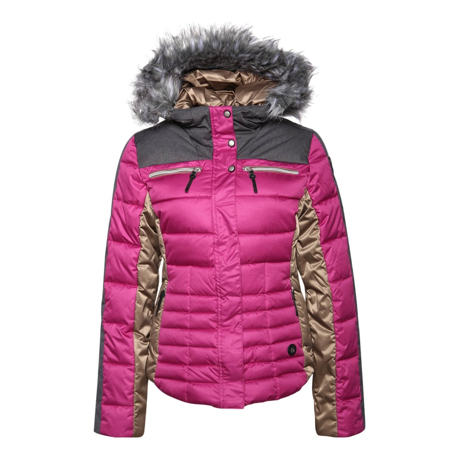 icepeak cathy ski jacket women pink beige anthracite vaola. Black Bedroom Furniture Sets. Home Design Ideas