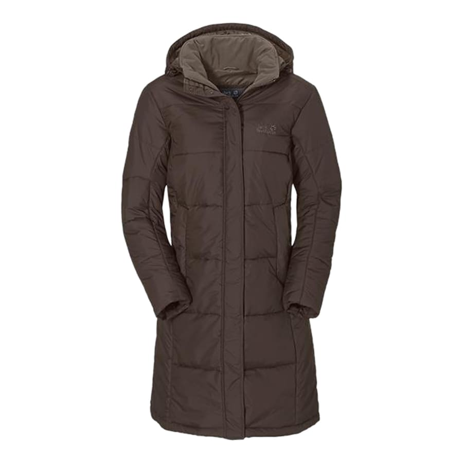 jack wolfskin iceguard coat winter coat women dark brown vaola. Black Bedroom Furniture Sets. Home Design Ideas