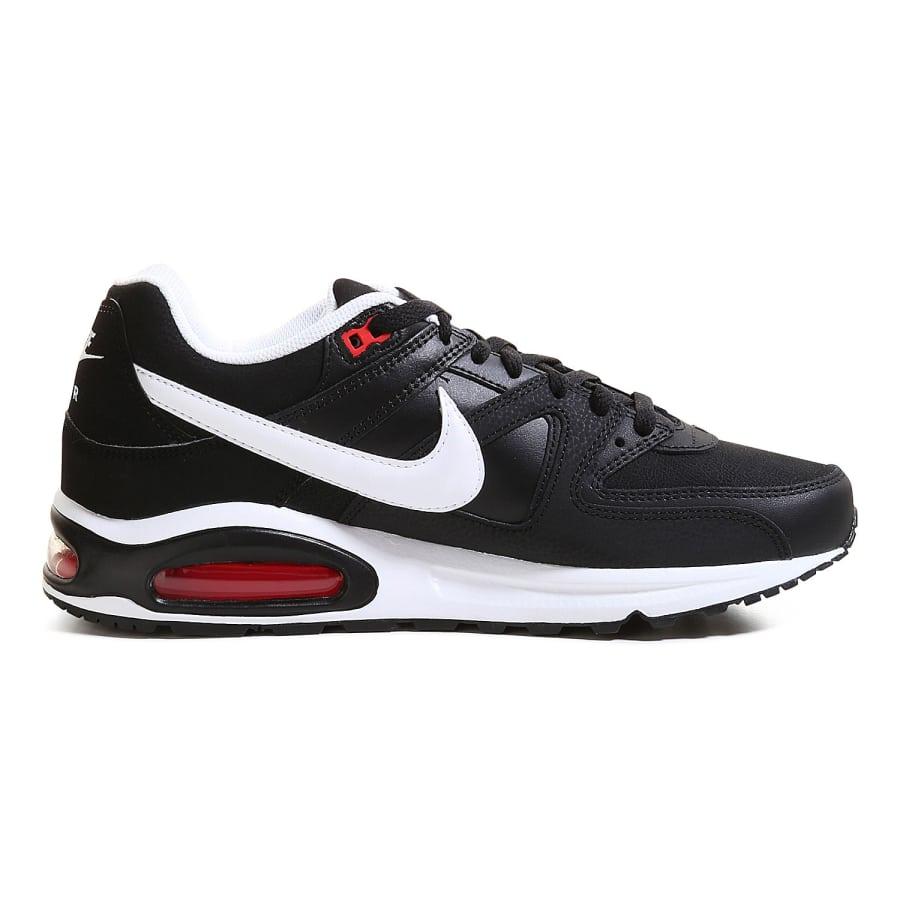 nike air max command leather sneakers men black white. Black Bedroom Furniture Sets. Home Design Ideas