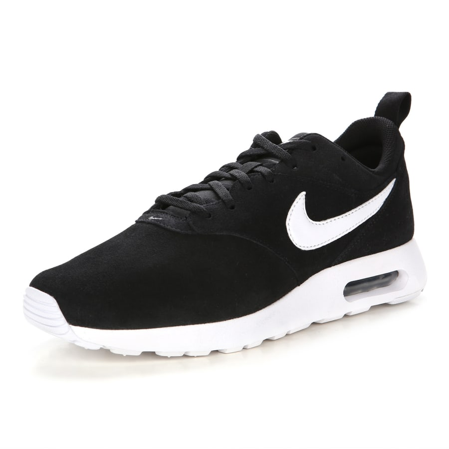 nike air max tavas leather sneakers men black white. Black Bedroom Furniture Sets. Home Design Ideas