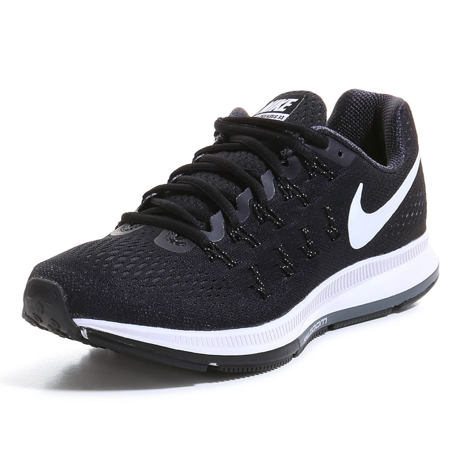 nike air zoom pegasus 33 laufschuhe damen schwarz wei. Black Bedroom Furniture Sets. Home Design Ideas