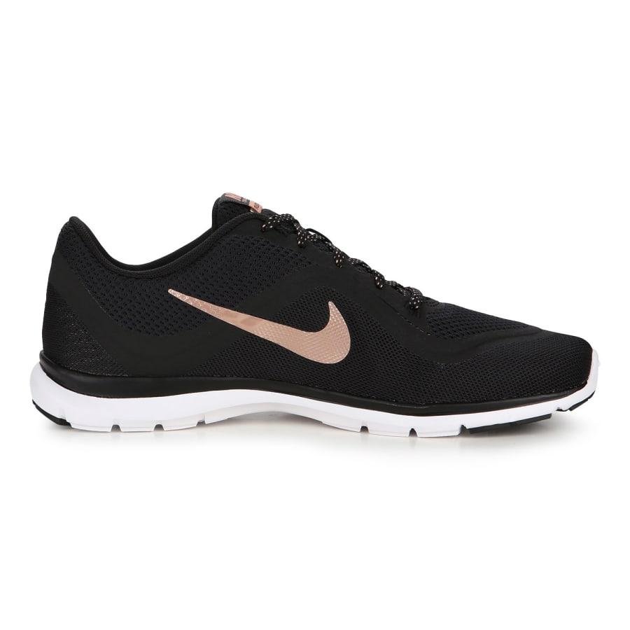 nike flex trainer 6 fitness shoes women black bronze vaola. Black Bedroom Furniture Sets. Home Design Ideas