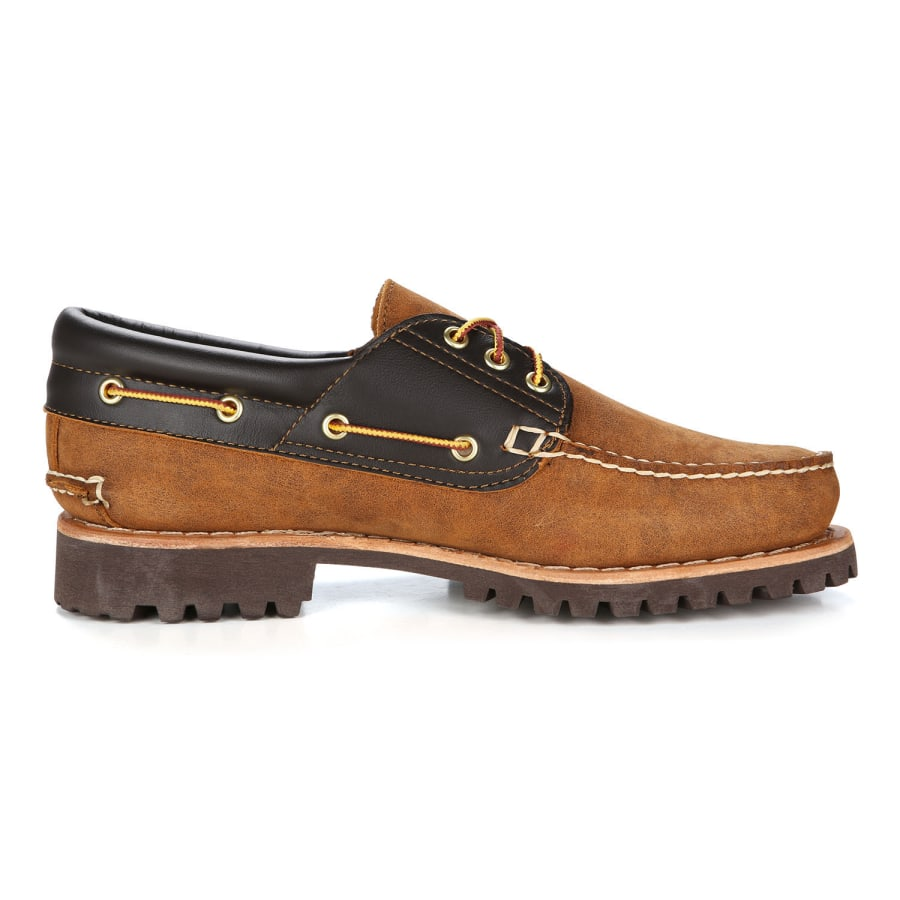 timberland authentics 3 eye classic lug boat shoes men camel brown vaola. Black Bedroom Furniture Sets. Home Design Ideas