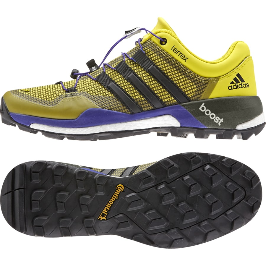 adidas terrex boost trail running shoes yellow