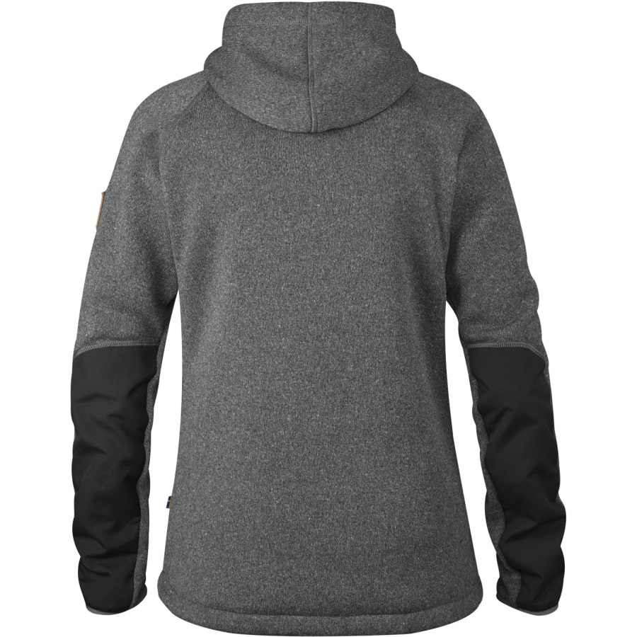 fj llr ven vik fleece hoodie damen dunkelgrau vaola. Black Bedroom Furniture Sets. Home Design Ideas