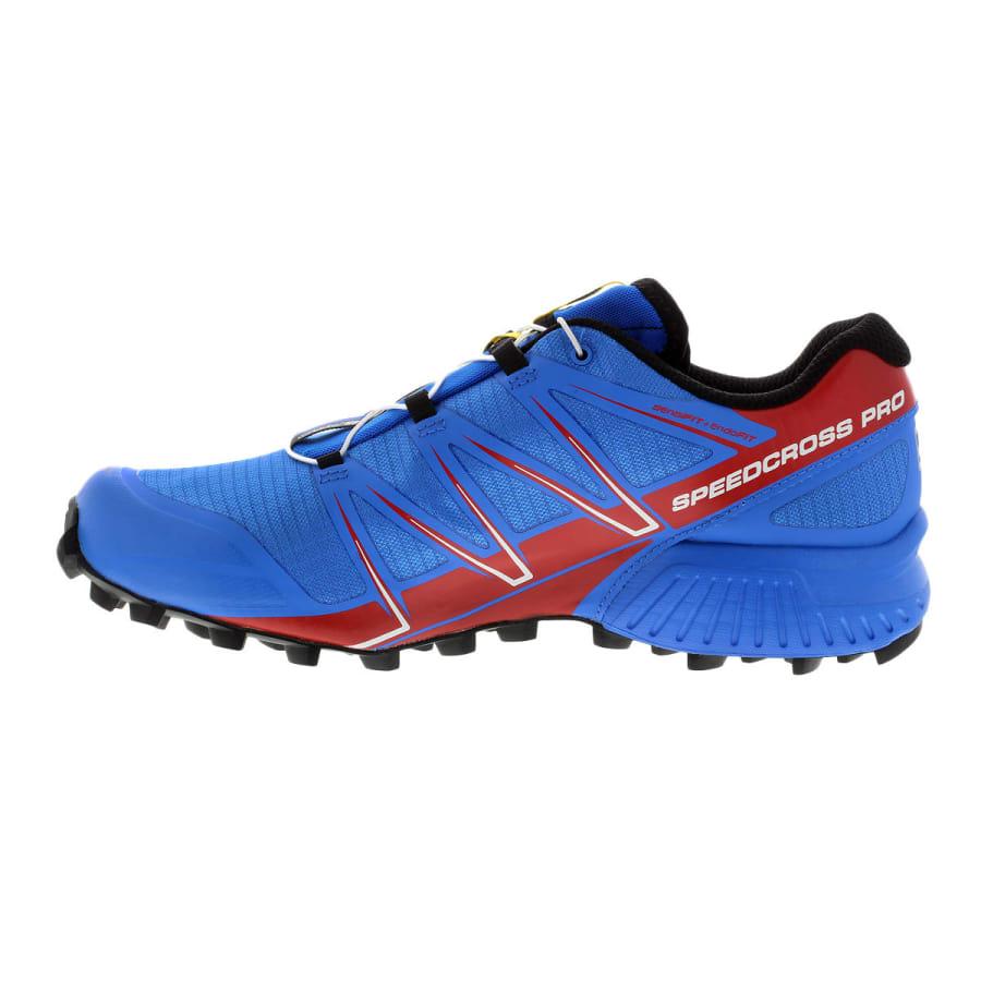 salomon speedcross pro trailrunning shoes men blue red. Black Bedroom Furniture Sets. Home Design Ideas