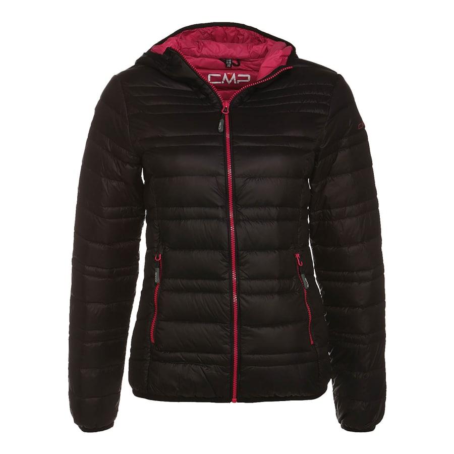 cmp fix hood jacket daunenjacke damen schwarz vaola. Black Bedroom Furniture Sets. Home Design Ideas