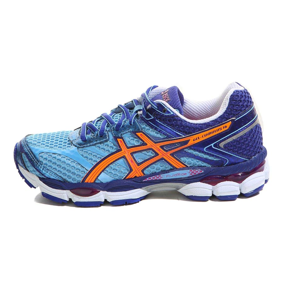 asics gel cumulus 16 laufschuhe damen blau orange vaola. Black Bedroom Furniture Sets. Home Design Ideas