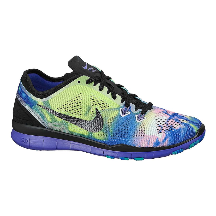 Nike FREE 5.0 TR FIT 5 PRINT Fitness Shoes Women black-black-prsn violet