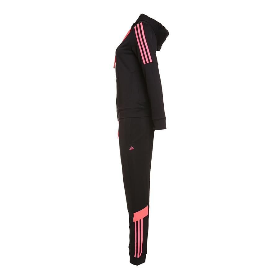 adidas iconic suit trainingsanzug damen schwarz rosa. Black Bedroom Furniture Sets. Home Design Ideas