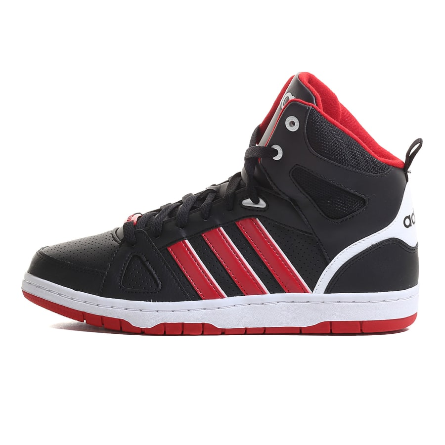adidas neo hoops team mid sneaker herren schwarz rot. Black Bedroom Furniture Sets. Home Design Ideas