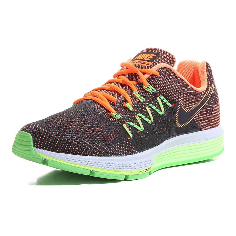 nike air zoom vomero 10 running shoes men black green. Black Bedroom Furniture Sets. Home Design Ideas