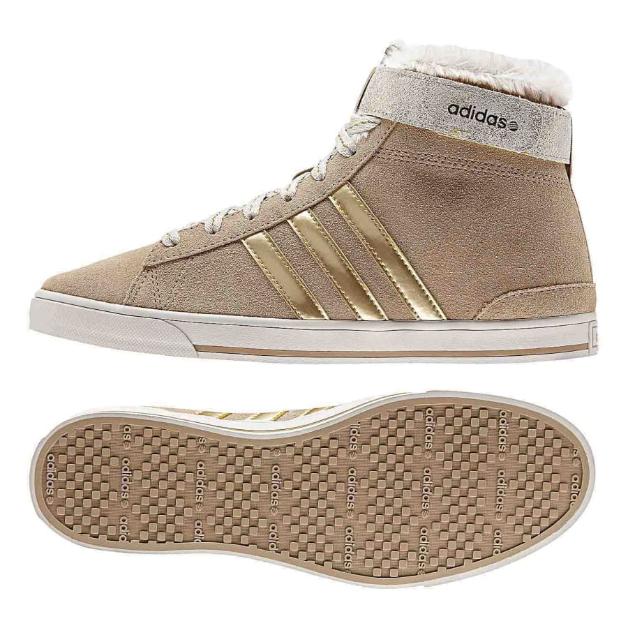 adidas neo daily twist sg mid sneaker women beige gold. Black Bedroom Furniture Sets. Home Design Ideas