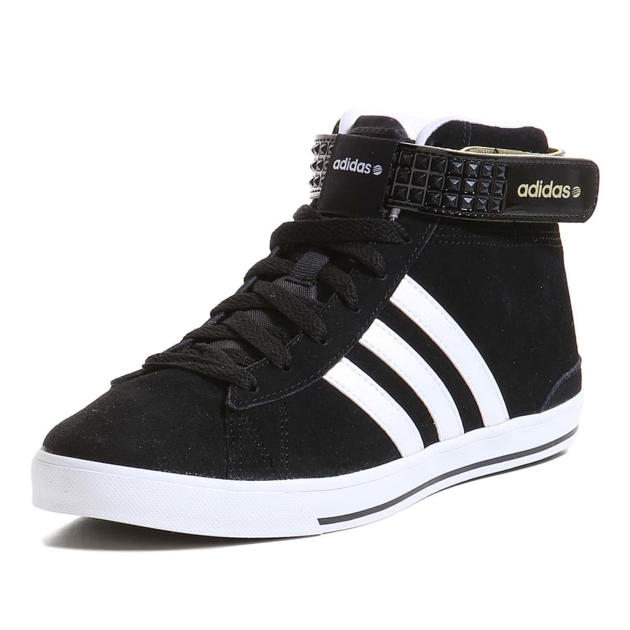 adidas neo daily twist mid sneaker damen schwarz wei. Black Bedroom Furniture Sets. Home Design Ideas