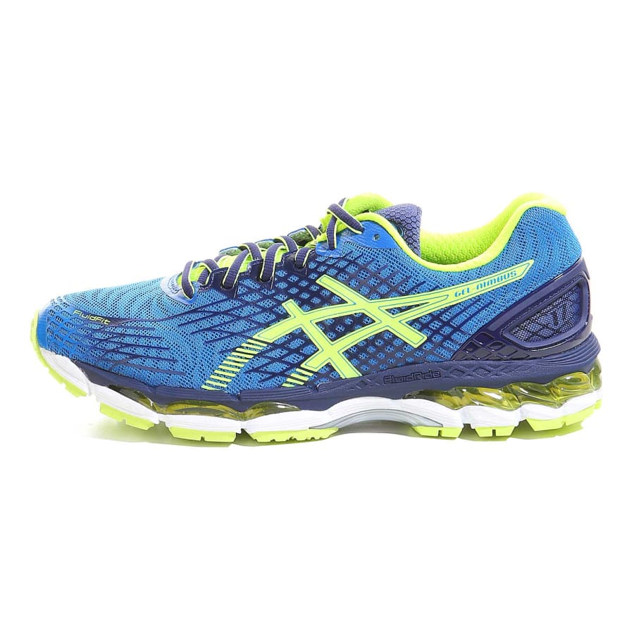 asics gel nimbus 17 running shoes blue neon yellow vaola. Black Bedroom Furniture Sets. Home Design Ideas