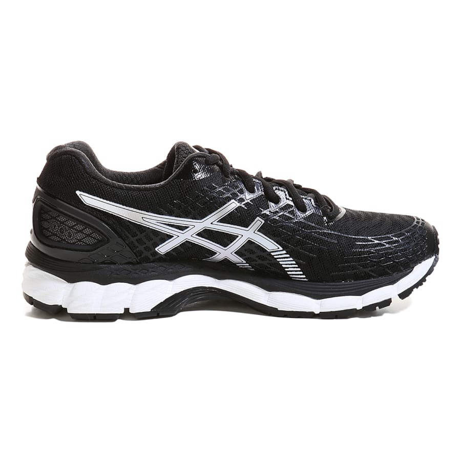 asics gel nimbus 17 running shoes black silver vaola. Black Bedroom Furniture Sets. Home Design Ideas