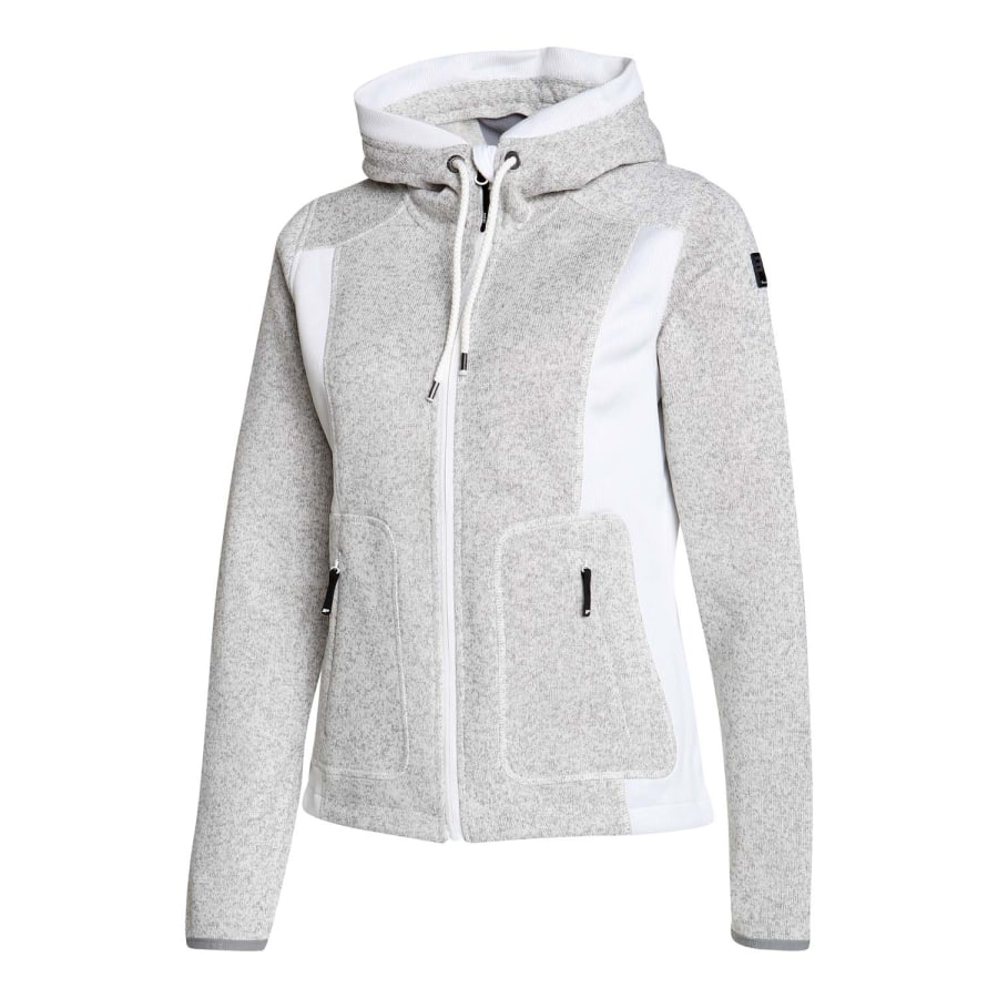 icepeak junita knit fleece jacket ladies gray beige. Black Bedroom Furniture Sets. Home Design Ideas