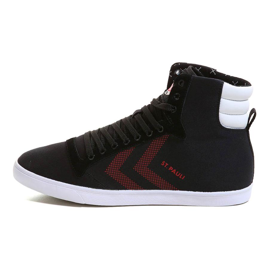 hummel fc st pauli slimmer stadil pure fcsp men sneaker black red vaola. Black Bedroom Furniture Sets. Home Design Ideas