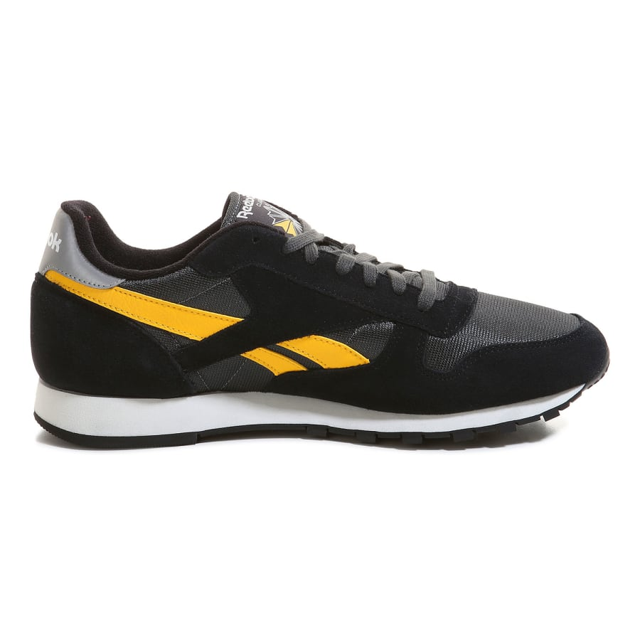 reebok classic sport clean sneaker men black gray yellow vaola. Black Bedroom Furniture Sets. Home Design Ideas