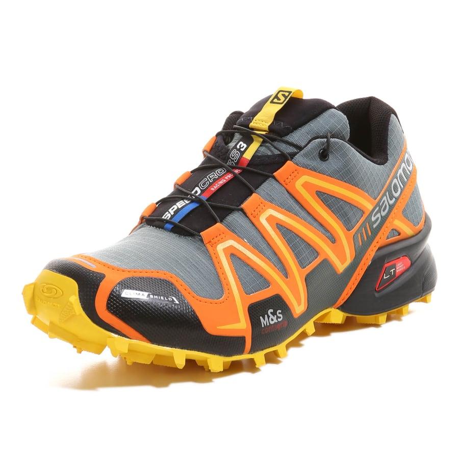 029924fab91a ... Salomon SPEEDCROSS 3 CS trail running shoes men grey-orange ...