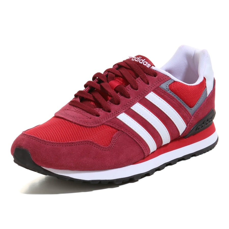 adidas neo 10k sneaker herren rot wei vaola. Black Bedroom Furniture Sets. Home Design Ideas