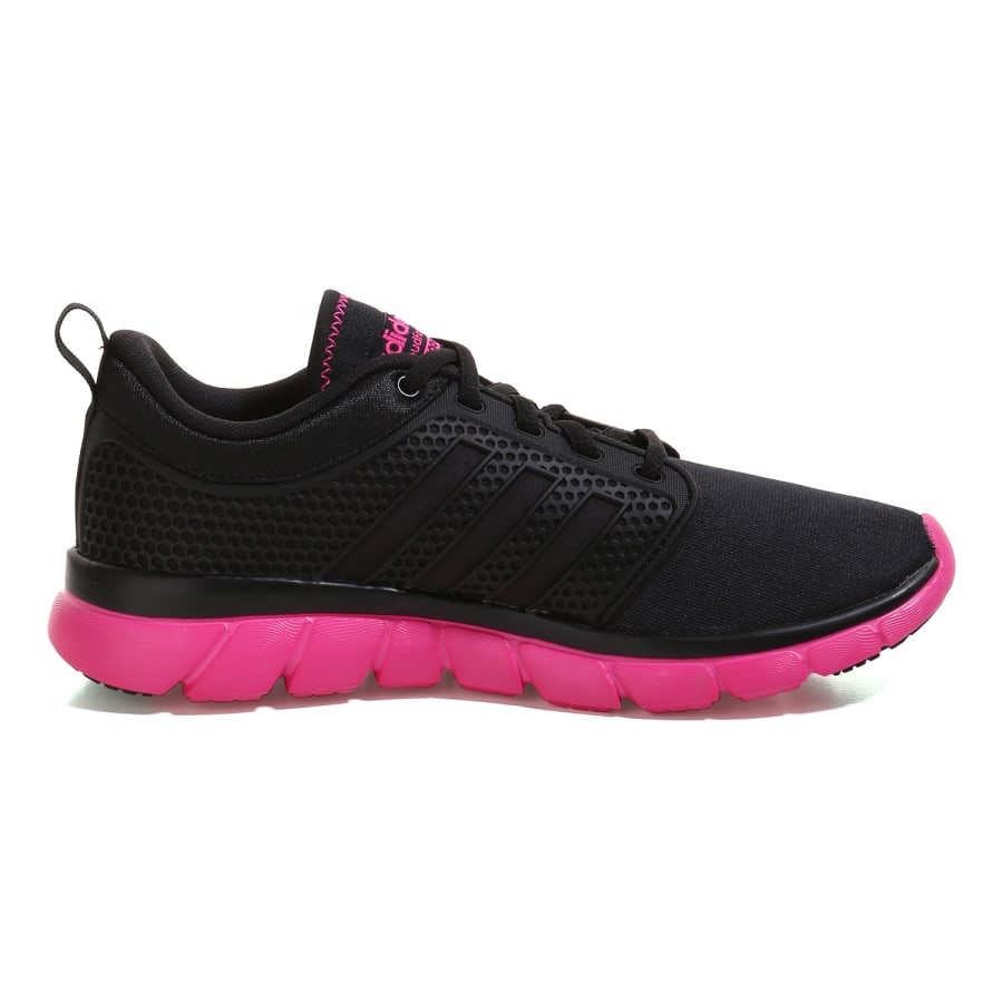 adidas neo cloudfoam groove sneaker damen schwarz pink. Black Bedroom Furniture Sets. Home Design Ideas