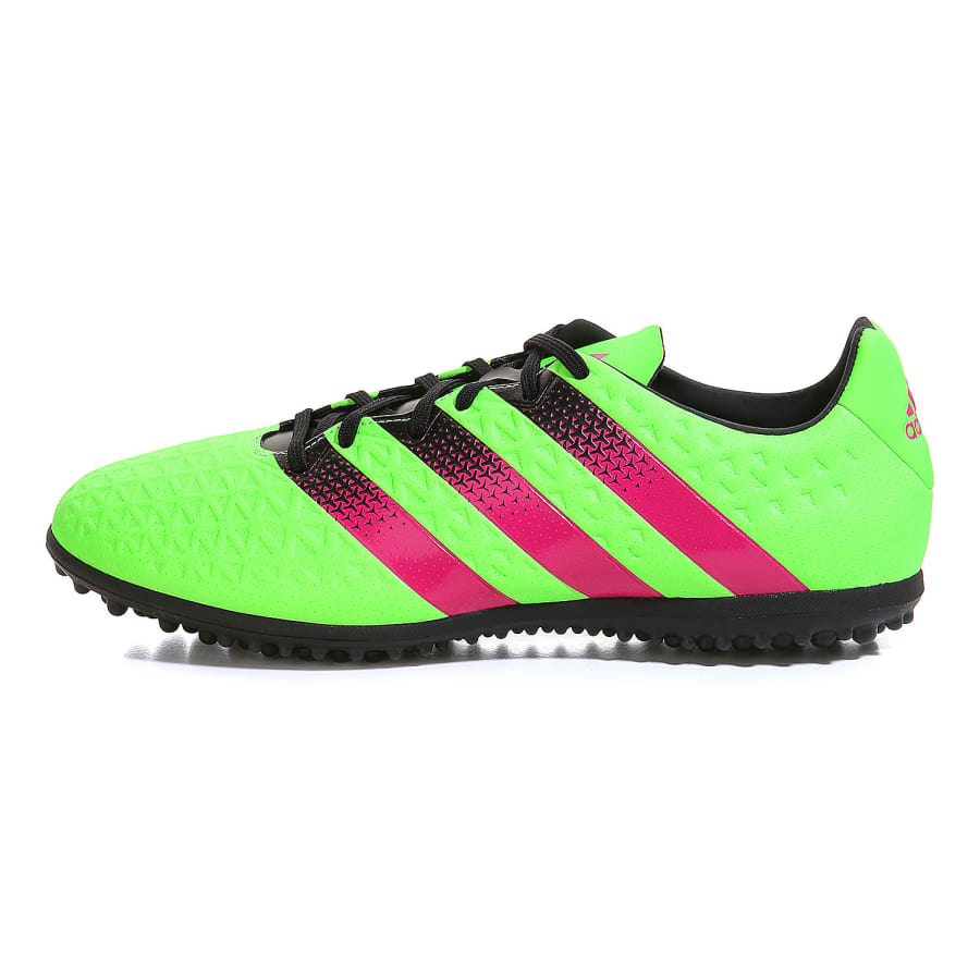 adidas ace 16 3 tf fu ballschuhe herren gr n pink vaola. Black Bedroom Furniture Sets. Home Design Ideas