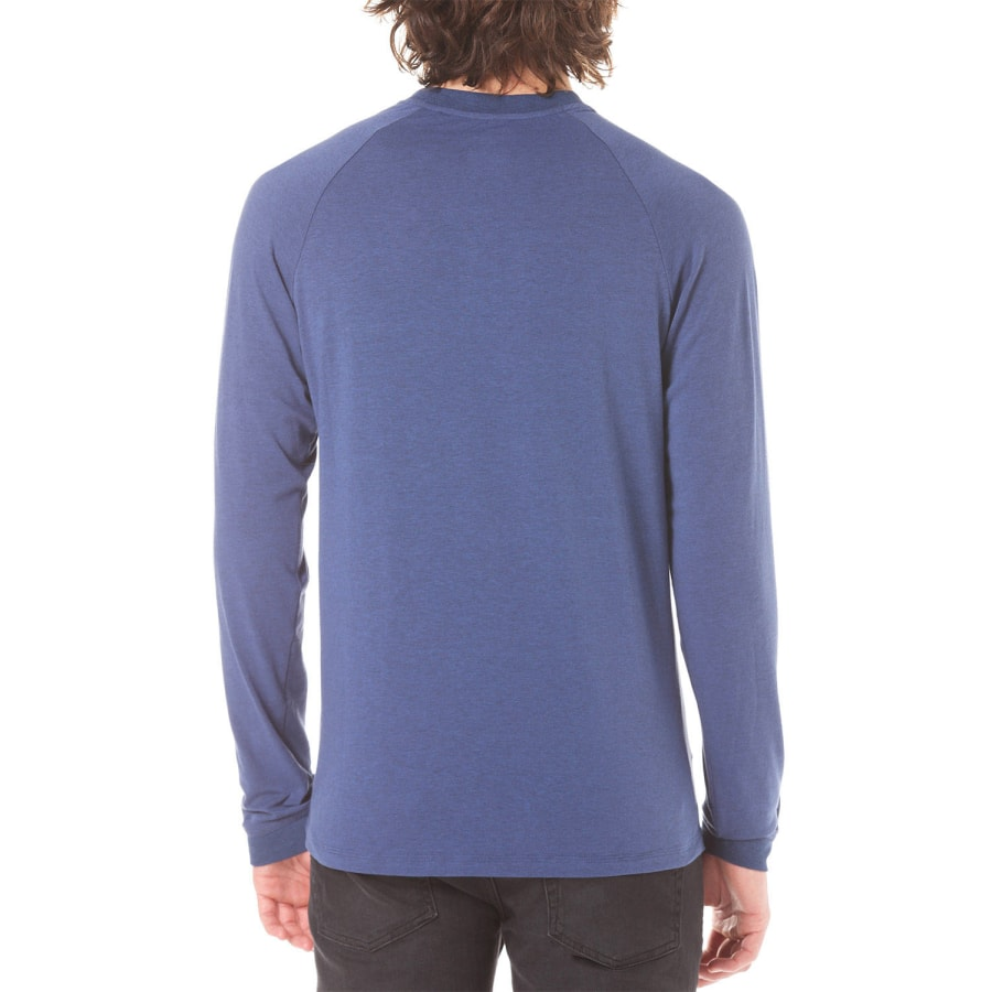 lakeville mountain henley longsleeve men blue melange. Black Bedroom Furniture Sets. Home Design Ideas