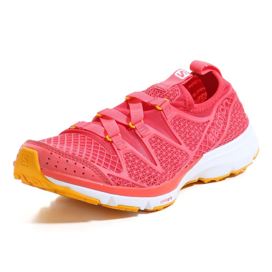 salomon crosshibian casual shoes pink yellow