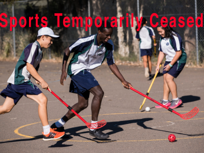 School Sport Temporarily Ceased For All of Term One