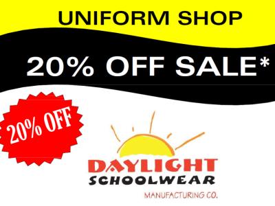 Uniform Shop Sale 14th-25th September