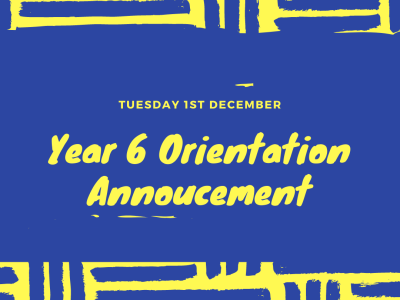 Year 6 Orientation Day