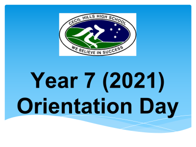 Year 7 (2021) Orientation Day Video Presentation