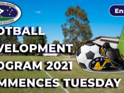 Football Development Program 2021 Commences Tuesday