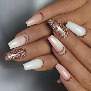 Nail Design French Tip 3d Design Glitter