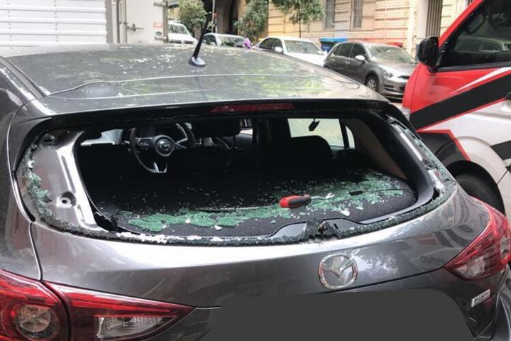 Broken Car Rear Window