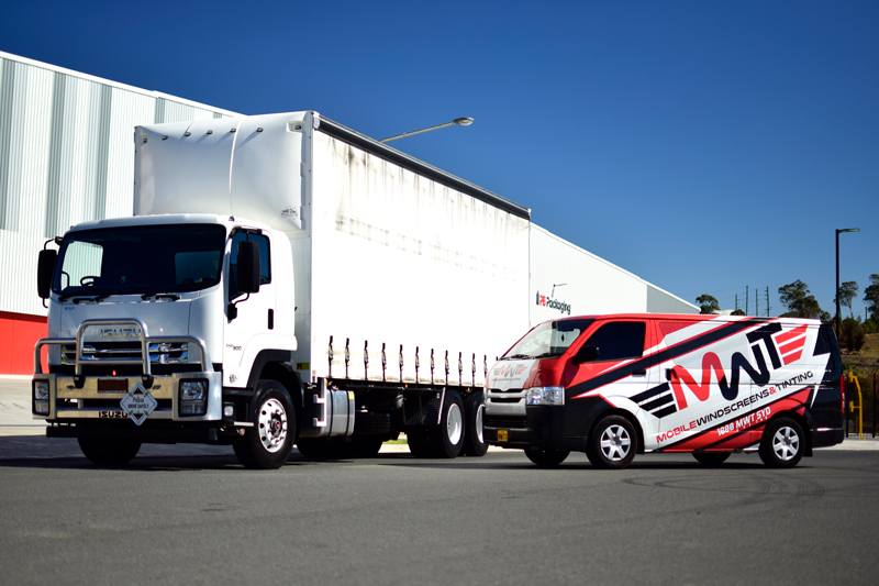 MWT Technician On-Site For Truck Windscreen Repairs