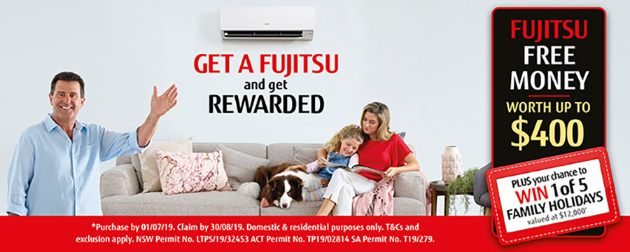 Fujitsu Free Money Back Promotion 2019