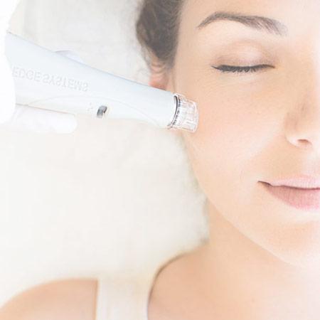 Hydrafacial Treatment on Client