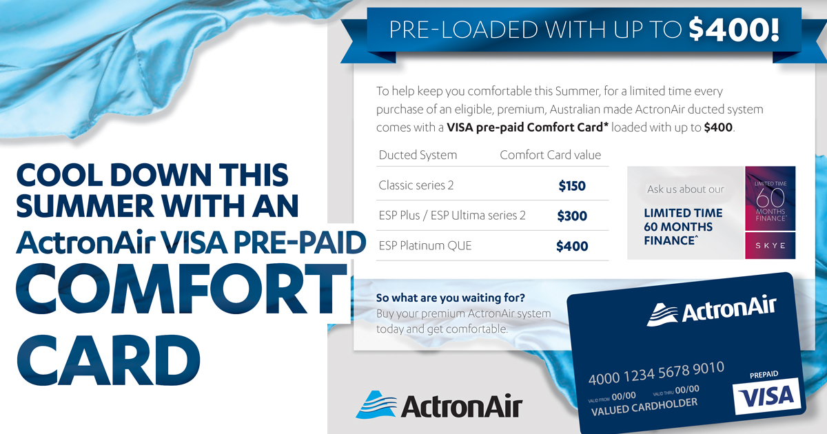 ActronAir's Classic Comfort Kit Promotion 2019