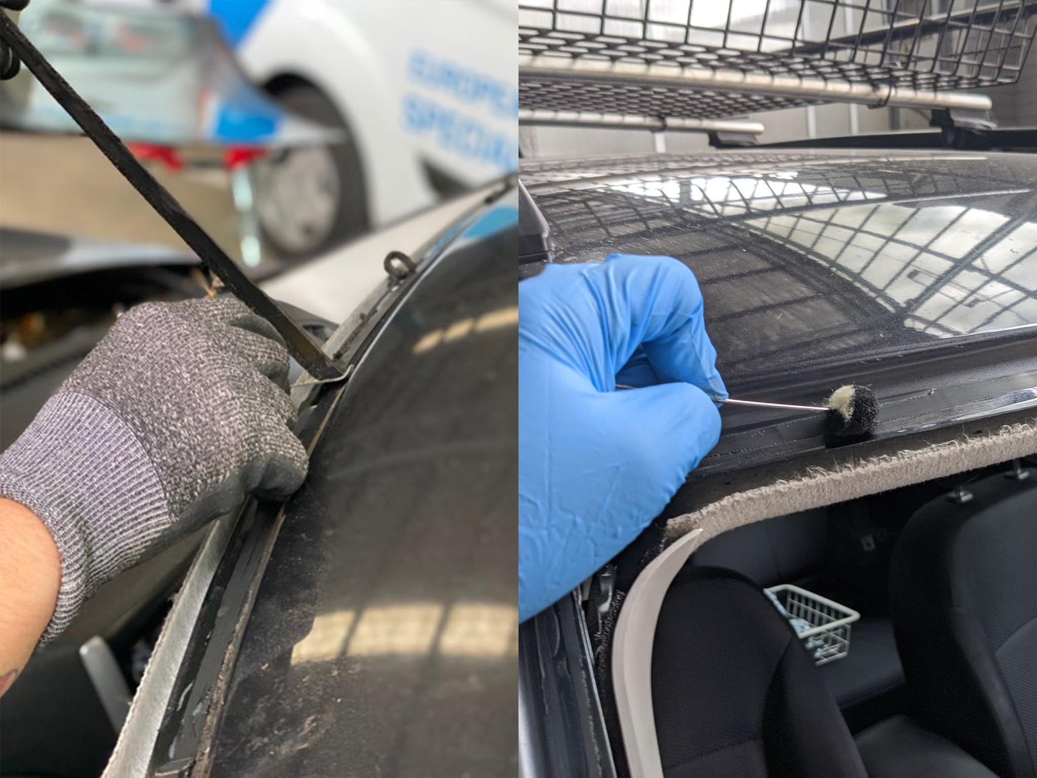 Seal Removal Blue Gloves Mobile Car Windscreen Replacement Sydney & Canberra