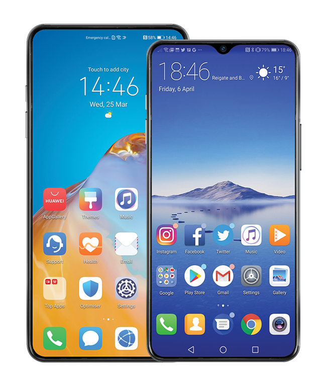 Cracked Huawei screen