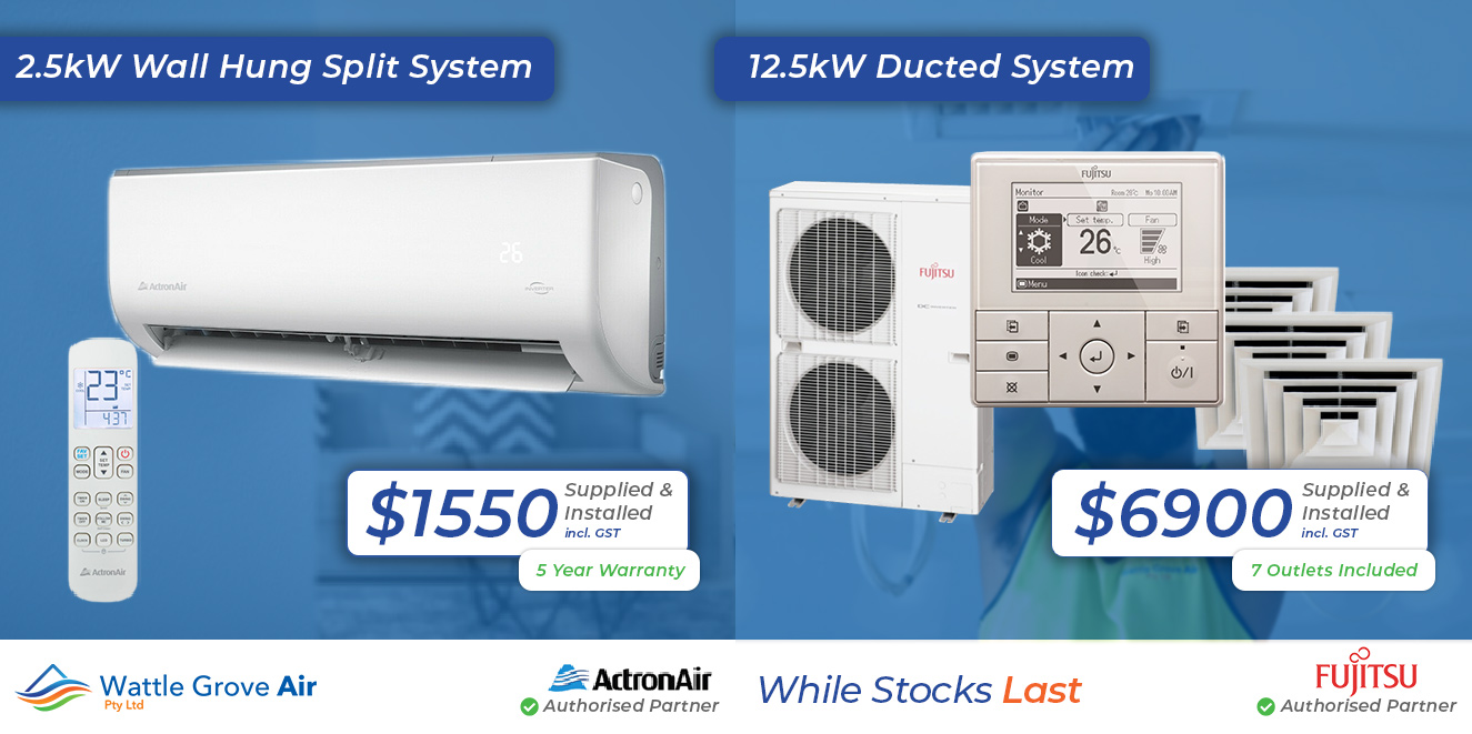 ActronAir Split System Air Conditioner and Fujitsu Ducted Air Conditioning System 2021 Promotion